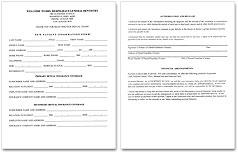 New Patient Form, DRS Heringhaus